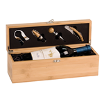 JDS Industries, Inc. WBX31 Wine Box Set Bamboo Engravables